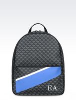 Emporio Armani Backpack In Logo Patterned Pvc