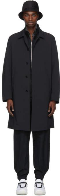 Prada Black Lightweight Mac Coat