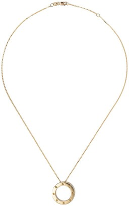Roberto Coin 18kt yellow gold sapphire Pois Mois pendant necklace