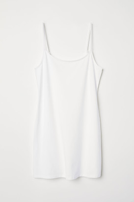 H&M Long Jersey Camisole Top - White