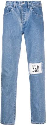 Enfants Riches Deprimes Logo-Patch Straight-Leg Jeans