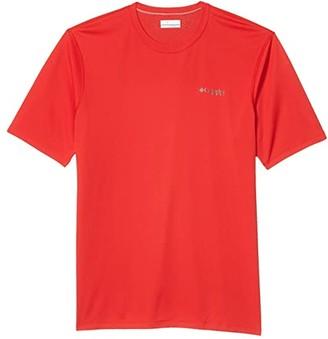 Columbia PFG ZERO Rulestm S/S Shirt (Red Spark) Men's Short Sleeve Pullover