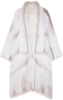 Pologeorgis The Phoenix White Multi Fur Coat