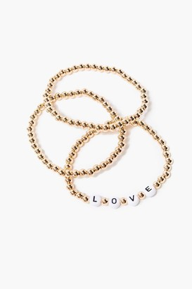 Forever 21 Love Beaded Bracelet Set