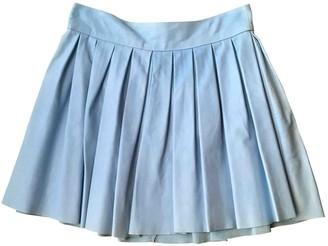 Alice + Olivia Blue Leather Skirt for Women