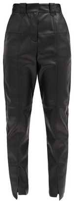 Aje Rebellion High-rise Faux-leather Trousers - Black
