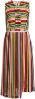 No.21 NO. 21 Striped sleeveless silk-chiffon dress