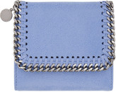 Stella McCartney Blue Falabella Small Flap Wallet
