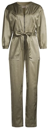 Rebecca Taylor Utility Sateen Jumpsuit