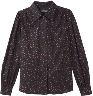 Vanessa Seward X La Redoute Collections Heart Print Shirt with Long Sleeves