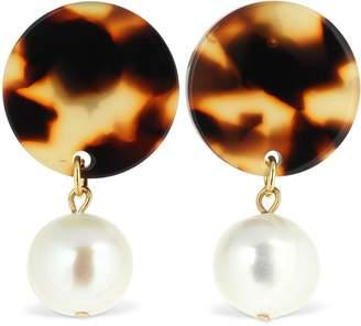 Aym Andreia Acetate & Pearl Earrings