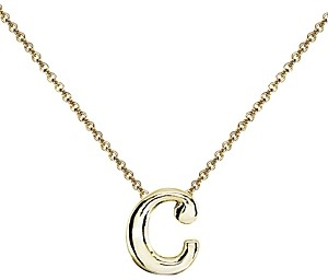 Aqua Initial Pendant Necklace in 18K Gold-Plated Sterling Silver, 14 - 100% Exclusive
