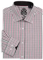 English Laundry Men's Graphic Cotton Dress Shirt