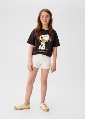 MANGO Frayed hem denim shorts white - 5 - Kids