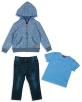 7 For All Mankind Infant Boys' French Terry Hoodie, Tee & Jeans Set - Sizes 12-24 Months