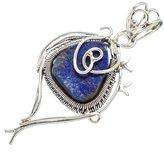 "Ana Silver Co. Ana Silver Co Rough Lapis Lazuli 925 Sterling Silver Pendant 2"" PD604771"