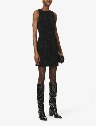 Balmain Glittery stretch-jacquard mini dress