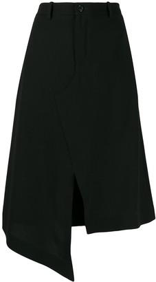Maison Margiela Asymmetric Hemline Skirt