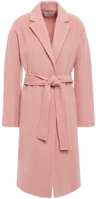 Vince Belted Wool-blend Felt Coat