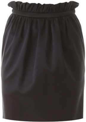 Versace BUBBLE MINI SKIRT 40 Black Silk