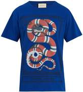 Gucci Snake-print cotton-jersey T-shirt