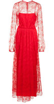 ADAM by Adam Lippes long lace gown dress - women - Nylon - 2