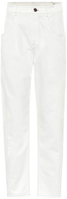 Brunello Cucinelli High-rise slim stretch-cotton jeans