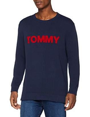 Tommy Jeans Men's Bold Logo Crew Neck Jumper,Large