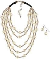 Kaleidoscope Multi Strand Pearl Necklace & Earring Set