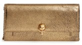 Alexander McQueen Women's Skull Leather Wallet On A Chain - Metallic