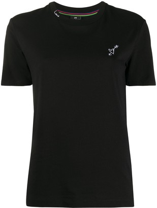 Paul Smith heart embroidered fitted T-shirt