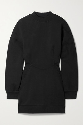 alexanderwang.t Gathered Cotton-jersey Mini Dress - Black