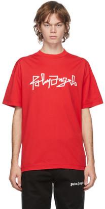 Palm Angels Red Desert Logo T-Shirt