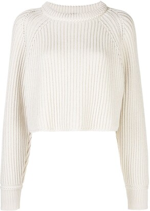 Proenza Schouler Chunky Knit Cropped Jumper