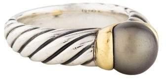 David Yurman Two-Tone Pearl Ring