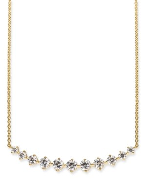 """Eliot Danori 18k Gold-Plated Crystal Collar Necklace, 17"""" + 1"""" extender, Created for Macy's"""