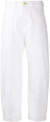 See by Chloe high-waisted cropped jeans