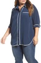 Melissa McCarthy Plus Size Women's Pajama Blouse