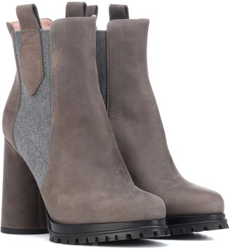 Max Mara Suede ankle boots