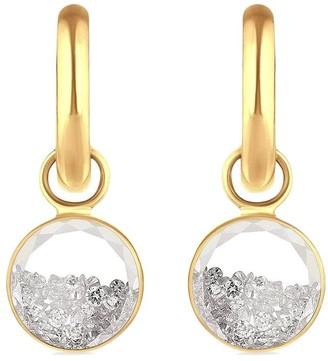 Moritz Glik 18kt Yellow Gold Diamond Shaker Baby Earrings