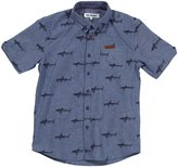 Ben Sherman S/S Shirt (Toddler/Kid) - Blue Chambray-12/13 Years