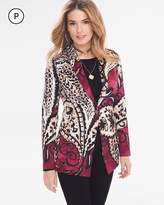 Chico's Petite Soft Printed Blazer