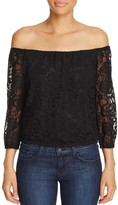 Cupcakes And Cashmere Karla Off-the-Shoulder Lace Top