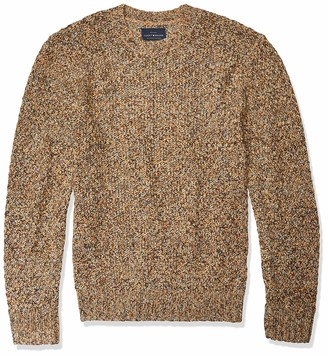 Lucky Brand Men's Crew Neck Pullover Cross Marl Stitch Sweater