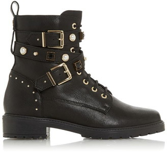 Dune London Popular Studded Multistrap Boots