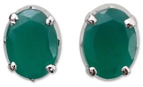 Novica Handmade Sterling Silver 'India Green' Onyx Earrings - Black