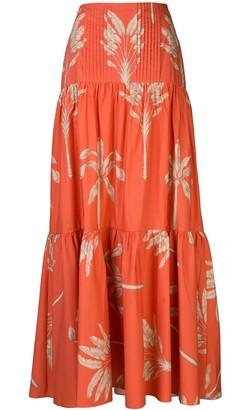 Johanna Ortiz Floral Print Maxi Skirt
