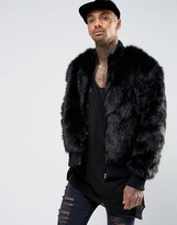 The New County Faux Fur Bomber Jacket