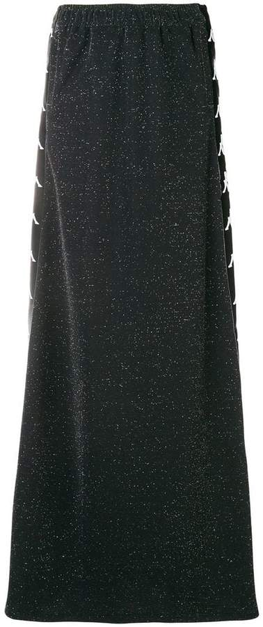 logo stripe maxi skirt
