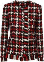 Tagliatore Red Check Maja Bouclé Jacket From